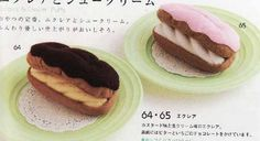 Felted Sweet Treats – Lady Boutique Series nº 2655  Bambas de crema, eclairs, petisus