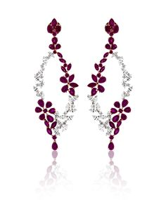 Ruby and Diamond Earrings by Casa Reale