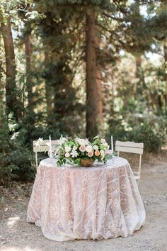 Woodland Wedding Inspiration on Style Me Pretty | Planning & Design by Megan Dileen Events | Jenna Joseph Photography