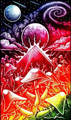 hippi psychedel, psychedel art