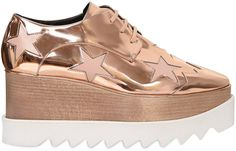 75mm Elyse Metallic Faux Leather Shoes - $796.00