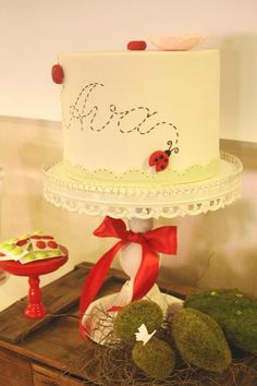 Ladybug Cake by Couture Cupcakes and Cookies