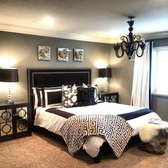 How to Choose Master Bedroom Paint Color Ideas - decorhomesideas Dream Bedroom, Home Bedroom, Master Bedroom, Bedroom Decor, Bedroom Ideas, Bedroom Paint Colors, Home Decor Furniture, My New Room, Beautiful Bedrooms