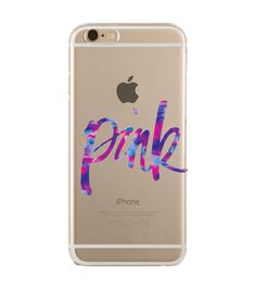 'Colors in Pink' transparent case