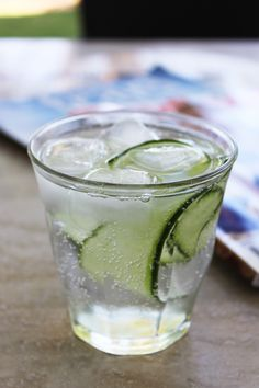 Oh yum yum, cucumber and elderflower gin cocktail, sounds like the perfect summer sundowner.  Who I am kidding?  It sounds good for breakfast too!