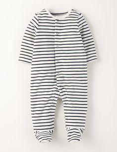 Premature baby boy blue velour woof-woof sleepsuit