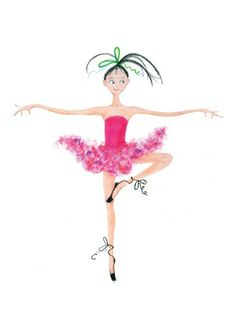 Funny how non-dancers show the ribbons flying around and the foot at the knee like a yoga pose. :)