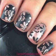 """If you're unfamiliar with nail trends and you hear the words """"coffin nails,"""" what comes to mind? It's not nails with coffins drawn on them. It's long nails with a square tip, and the look has. Nagel Stamping, Stamping Nail Art, Moyou Stamping, Fancy Nails, Trendy Nails, Fabulous Nails, Gorgeous Nails, Hair And Nails, My Nails"""