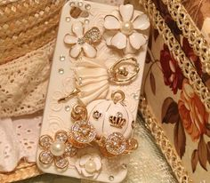 iPhone Hard Case Bling Crystal Carriage and Ballerina