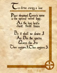 "Book of Shadows:  ""To Drive Away A Love,"" by Charmed-BOS, at deviantART."
