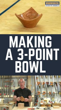 Have you ever seen a bowl that has a rim with three pointy tips rather than a contiguous round shape? This is commonly referred to as a three-point bowl, Lathe Projects, Beginner Woodworking Projects, Woodworking Skills, Woodworking Techniques, Woodworking Shop, Woodworking Ideas, Diy Projects, Wood Router, Wood Lathe