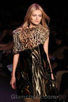 Leopard Print Fur Capelets