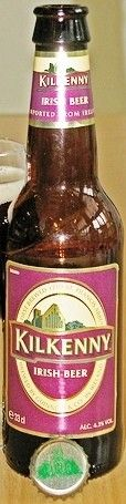 Cerveja Kilkenny, estilo Irish Red Ale, produzida por St. Francis Abbey , Irlanda. 4.3% ABV de álcool.