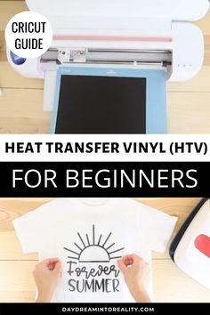 cricut vinyl projects How to Work with Iron-ON (HTV) Cricut Heat Transfer Vinyl, Iron On Cricut, Cricut Iron On Vinyl, Cricut Air 2, Cricut Htv, Iron On Transfer, How To Use Cricut, Cricut Craft Room, Circuit Projects