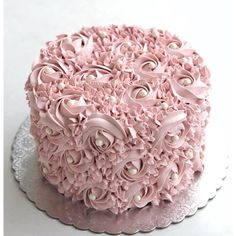 You don't need someone to complete you. You only need someone to accept you completely. Pretty Cakes, Beautiful Cakes, Amazing Cakes, Cake Decorating Designs, Cake Designs, Rosette Cake, Cake Images, Floral Cake, Small Cake