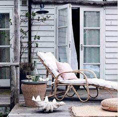 Emma Thomas Interior Design | Rattan Steamer Chair | ecoluxe.com.au