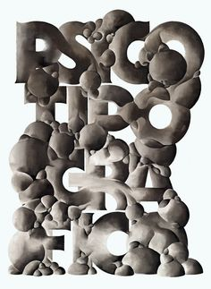 """psicotipografico_madspain_a4"" by alex trochut / spain"