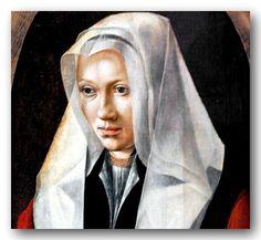 Lucas van Leyden (1494-1533) -- Portrait of a young woman with a cap.