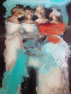 mona nahleh ''Fairies In Viridian' 120x150cm 2014