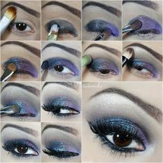 Passo a passo maquiagem roxa, azul e turquesa para formandas. - Tudo Make – Maior blog de maquiagem, beleza e tutoriais de Curitiba.
