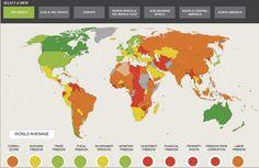 Data Visualization: The Heritage Foundation Index of Economic Freedom (Interactive Heatmap)