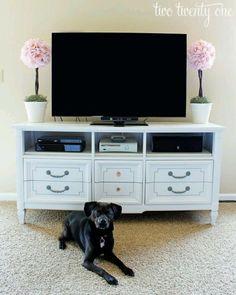 Reporpose a dresser into TV stand