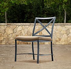 Cafe dining collection chairs set of and stacking chairs for Restoration hardware outdoor umbrellas