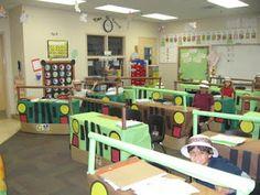 Buzzing About Second Grade: Learning Safari Sneak Peek.Thoses desks are Jeeps! Classroom Crafts, Classroom Design, Classroom Organization, Classroom Management, Classroom Ideas, School Teacher, Primary School, Safari Theme, Safari Room