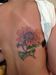 24 Warm Sunflower Tattoo Designs