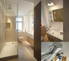 kleines badezimmer fliesen verlegen metall effekt dunkelgrau badewanne banyo pinterest. Black Bedroom Furniture Sets. Home Design Ideas
