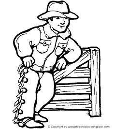 cowboy campfire coloring page for children prek class trips pinterest campfires cowboys and child - Cowboy Cowgirl Coloring Pages