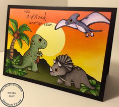 Beau Monde Designs - So Suzy Stamps Dinosaurs