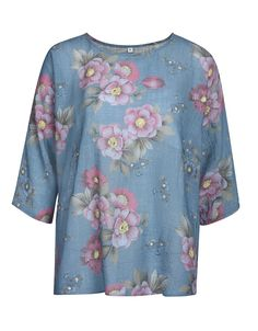 Shirt-Bluse mit 3/4 Arm | Bexleys woman | ADLER Mode Onlineshop Floral Tops, Shirt Bluse, Jeans Rock, Tunic Tops, Shirts, Products, Fashion, Dusty Pink, Eagles