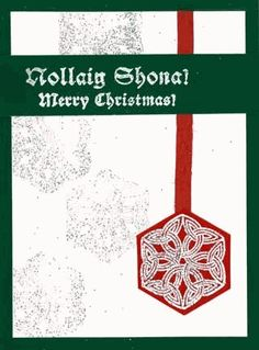 Snowflakes are hexagonal crystals. I designed this Celtic knot to resemble a regular snowflake crystal. Embossing and Christmas colors make this card idea stand out. Christmas Cards To Make, Christmas Colors, Merry Christmas, Celtic Christmas, Crystal Snowflakes, Trinity Knot, Snowflake Designs, Custom Stamps, Celtic Knot