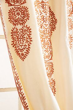 Marrakech Curtain, Orange - anthropologie.com