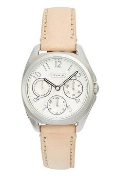 COACH 'Teagan Mini' Multifunction Leather Strap Watch, 30mm | Nordstrom