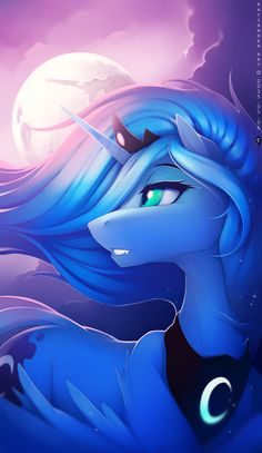 Luna mlp. I love her sooooo much! My fav pony of the night! Get it? Haha, I'm so horrible at this pun thing.