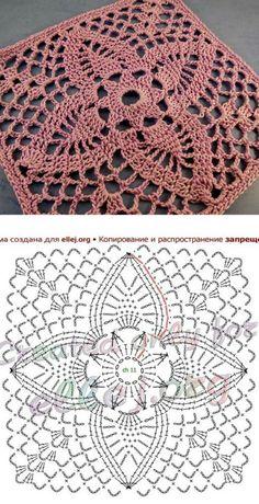 Transcendent Crochet a Solid Granny Square Ideas. Inconceivable Crochet a Solid Granny Square Ideas. Crochet Square Blanket, Granny Square Crochet Pattern, Crochet Diagram, Crochet Chart, Crochet Squares, Thread Crochet, Free Crochet, Crochet Granny, Crochet Lace