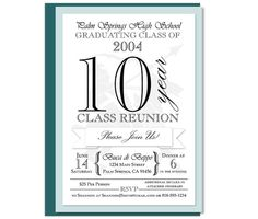 Class Reunion Invitation by Shameron Studios on Etsy https://www.etsy.com/listing/189838051/custom-class-reunion-invitation-with