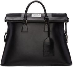Maison Margiela - Black Leather Duffle Bag 2300 EUR. 19*13*9 in.