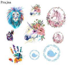 Cheap Patches, Buy Directly from China Suppliers:Prajna Unicorn Flower Iron-on Patch Fingerprint Vinyl Thermal Animal Patches For Clothing Stripe T-shirt  Iron Transfers DIY