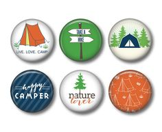 Camping Magnets  Fridge Magnets  Nature by ShakespearesSisters