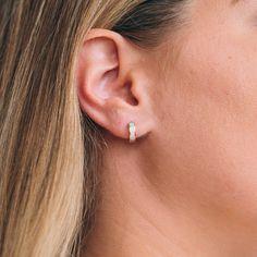 local eclectic | 4mm Mini Opal Hoop Earrings