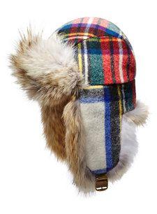 FASHION TRAPPER Ladies Winter Trapper Deer Stalker Hat Glitter Checked Blue