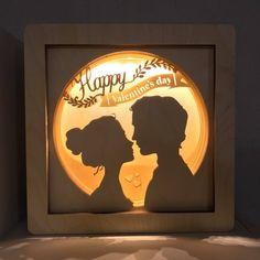 Valentine's gift - Gift for men - Gift for women - Personalized gift - Valentine's day - Shadow box light - Light Box - Shadowbox Baby Girl Nursery Decor, Nautical Nursery, Valentine Box, Valentine Crafts, Batman Gifts, Diy And Crafts, Paper Crafts, Shadow Box, Paper Art