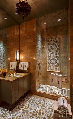 Skyline Penthouse - Guest Bath - Suzanne Lovell Inc.