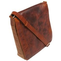 Canyon Outback Ringtail Messenger Bag Cowhide & Canvas