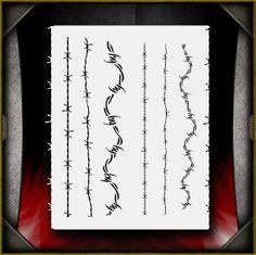Barbed Wire stencil