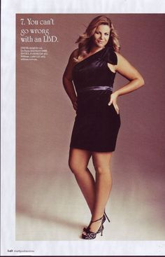 plus size model Fiona Falkiner. you cant go wrong with a LBD