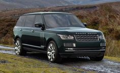 Dark green Range Rover